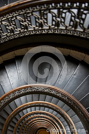 Free Arrott Building - Half Circular Spiral Marble Staircase - Downtown Pittsburgh, Pennsylvania Royalty Free Stock Photography - 109440547
