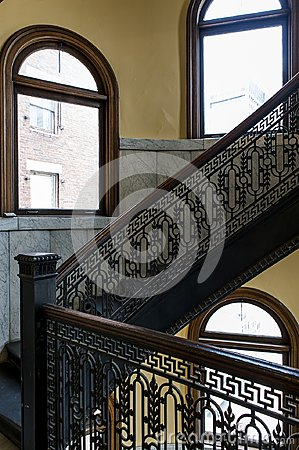 Free Arrott Building - Half Circular Spiral Marble Staircase - Downtown Pittsburgh, Pennsylvania Royalty Free Stock Image - 109440836