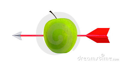 Arrow and apple target