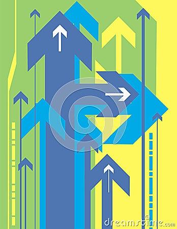 Arrow background series