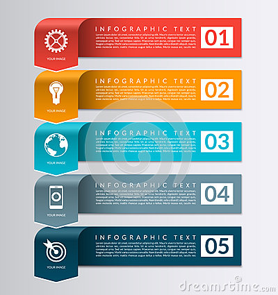 Free Arrow Banner For Business Infographics. 5 Steps Design Template Royalty Free Stock Images - 63416749