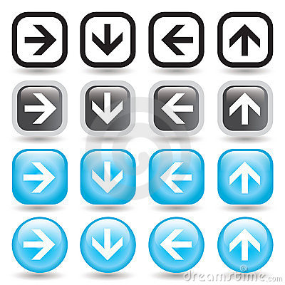 Free Arrow Button Set Royalty Free Stock Photo - 6177185