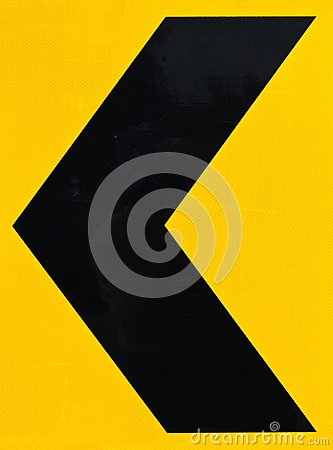Arrow Caution Sign