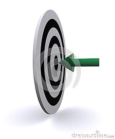 Arrow in center of target
