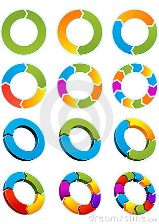 Free Arrow Circles Royalty Free Stock Images - 13622799