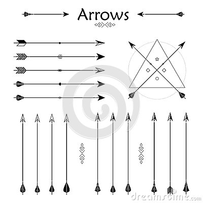 ... Indian style arrows. Arrow for all design. Indian elements, hipster
