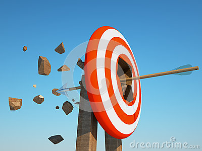 Arrow crush the target