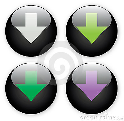 Arrow download black button icon