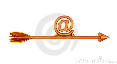 Arrow and email sign
