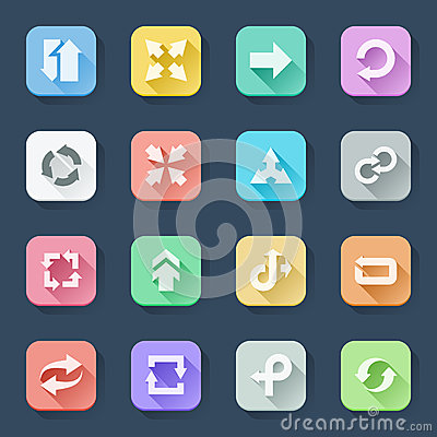 Arrow flat icons
