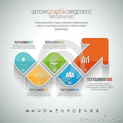 Free Arrow Graphic Segment Infographic Royalty Free Stock Photos - 43011288