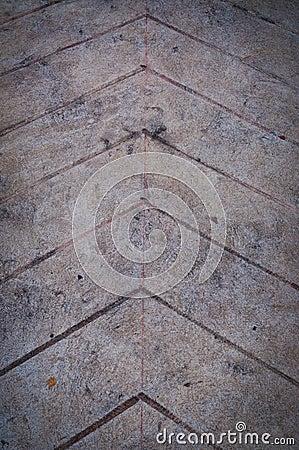 Arrow on ground