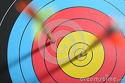 Arrow hit target