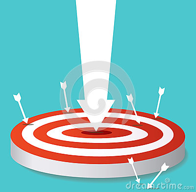 Arrow icon on target archery vector Vector Illustration