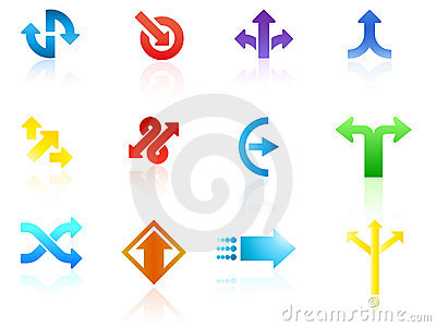 Arrow icon vectors