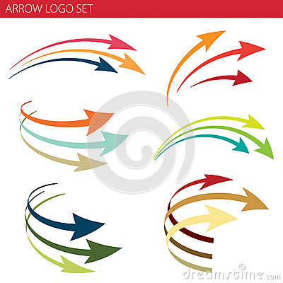 Free Arrow Logo Set Royalty Free Stock Photos - 28308818