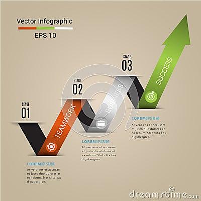 Arrow Modern vector banner infographics. Vector Illustration