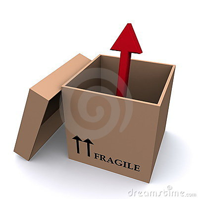 Arrow out of a box