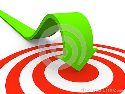 Arrow Pointing On Target Royalty Free Stock Photo - Image: 24684145