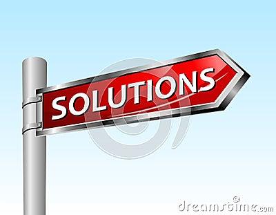 Arrow road sign solutions
