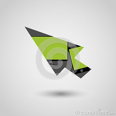 Arrow with screen and phone Vector Illustration