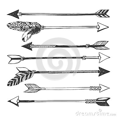 Free Arrow Set In Native American Indian Style. Stock Photo - 73638510