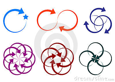 Arrow shape logos Vector Illustration