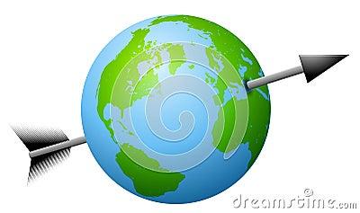Arrow Shot Through The Earth