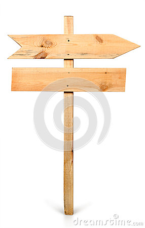 Free Arrow Sign Board Made Out Of Wood Royalty Free Stock Image - 24661366