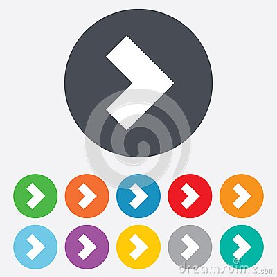 Free Arrow Sign Icon. Next Button. Navigation Symbol Royalty Free Stock Images - 36728069