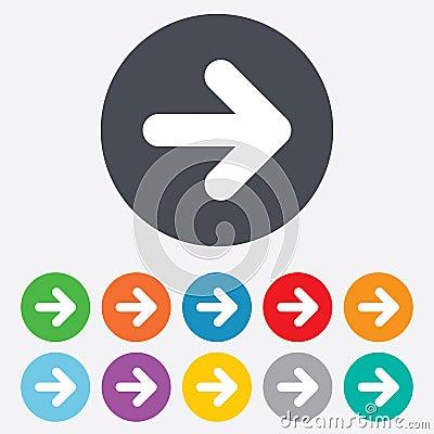 Free Arrow Sign Icon. Next Button. Navigation Symbol Stock Image - 36728071