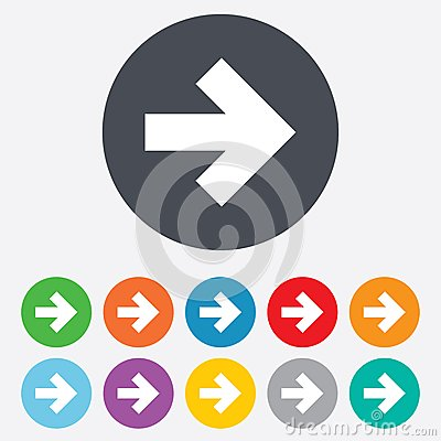 Free Arrow Sign Icon. Next Button. Navigation Symbol Royalty Free Stock Photography - 36728087