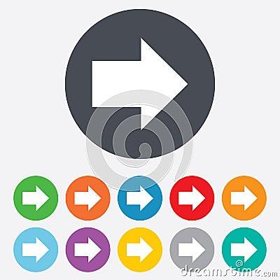 Free Arrow Sign Icon. Next Button. Navigation Symbol Stock Photo - 36728120
