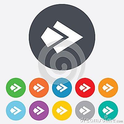 Free Arrow Sign Icon. Next Button. Navigation Symbol Stock Photo - 36728140