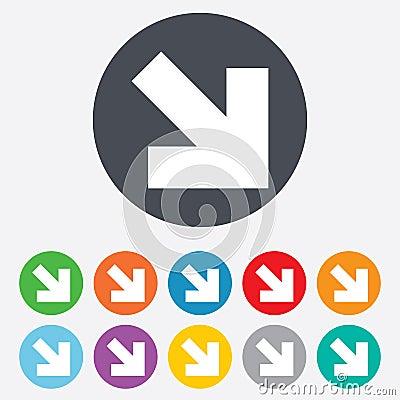 Free Arrow Sign Icon. Next Button. Navigation Symbol Royalty Free Stock Photos - 36728178