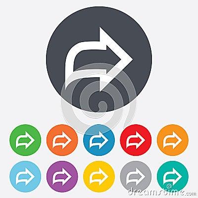 Free Arrow Sign Icon. Next Button. Navigation Symbol Royalty Free Stock Image - 36728186