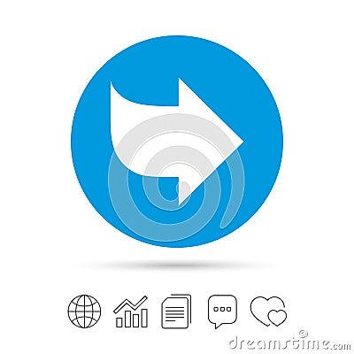 Free Arrow Sign Icon. Next Button. Navigation Symbol. Stock Photo - 88066650