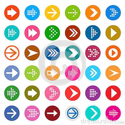 Free Arrow Sign Icon Set. Royalty Free Stock Image - 46846836