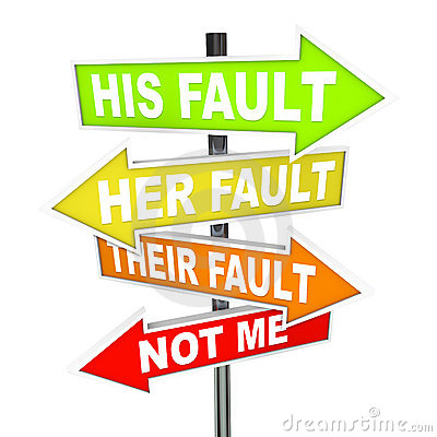 Free Arrow SIgns - Not My Fault Shifting Blame Royalty Free Stock Photo - 18471565