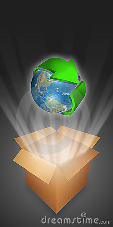 Free Arrow Symbolizing Recycling Circling The Globe Royalty Free Stock Image - 11802216
