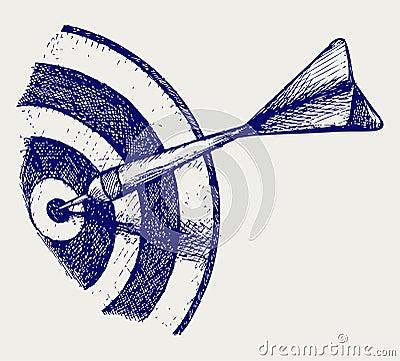 Arrow in target
