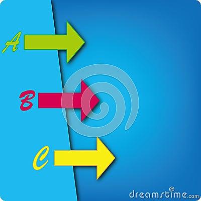 Arrow template design