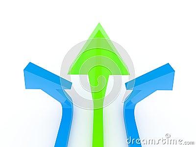 Arrow trident aiming high