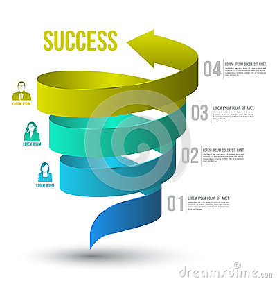 Free Arrow Twist Up To Success Number Options With Icons. Stock Images - 43644094