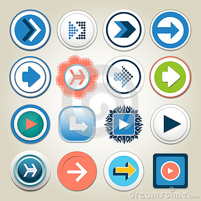 Free Arrow Vector 3d Button Icon Set. Isolated Interface Line Symbol For App, Web And Music Digital Illustration Design. Application Si Royalty Free Stock Photo - 79427195