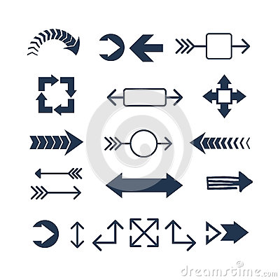 Free Arrow Web Icon Vector Illustration. Royalty Free Stock Images - 84194109