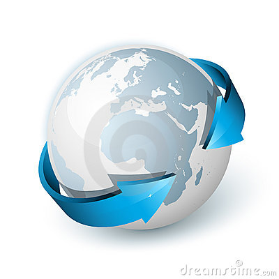 Free Arrows Around World Globe Royalty Free Stock Photos - 16684468
