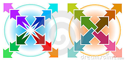 Arrows With Circle Royalty Free Stock Image - Image: 20000246