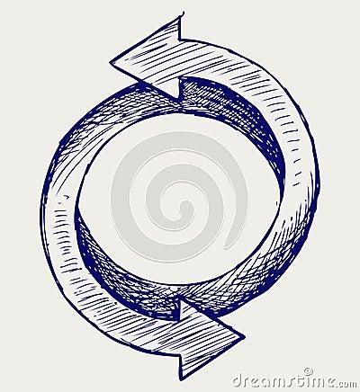 Arrows circle