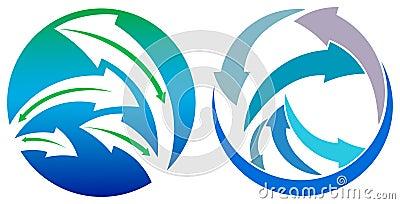 Arrows in circle Vector Illustration